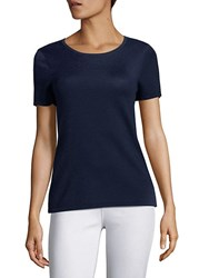 Saks Fifth Avenue Collection Roundneck Pullover Top Blazing Berry