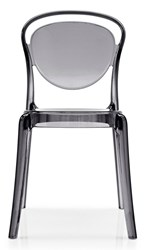 Calligaris Parisienne Chair P266 Smoke Grey Transparent Plastic Gray