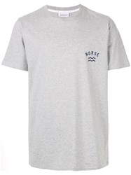 Norse Projects Branded T Shirt Grey