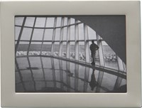 Cb2 Stainless Steel Magnetic 2.5X3.5 Picture Frame
