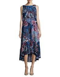 Rafaella Popover Hi Lo Maxi Dress Navy