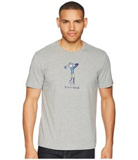 Life Is Good Classic Golf Crusher Tee Heather Gray T Shirt