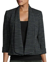 Nipon Boutique Textured Knit Blazer Black Multi