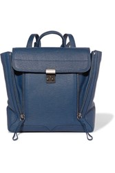 3.1 Phillip Lim Pashli Textured Leather Backpack Navy