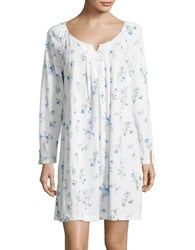 Carole Hochman Floral Printed Night Gown White