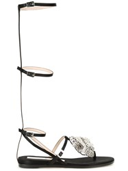 No21 Embellished Gladiator Sandals Black