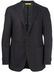 Canali Plaid Dinner Jacket Brown