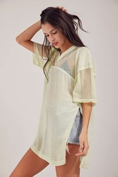 Silence And Noise Sheer Sporty Jersey Top Gold