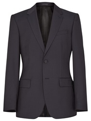 Reiss Point Check Wool Suit Jacket Navy
