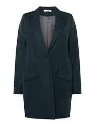 Sessun Collared Wool Over Coat Teal