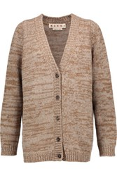 Marni Wool And Cashmere Blend Cardigan Tan
