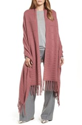 Halogen Cashmere Wrap Burgundy Rouge