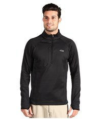 Outdoor Research Radiant Hybrid Pullover Black Men's Coat