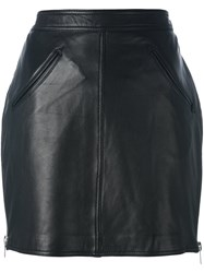 Jeremy Scott Fringed Short Skirt Black