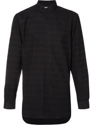 Naked And Famous Band Collar Shirt Black