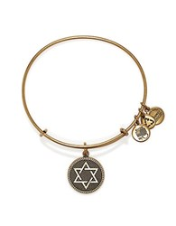 Alex And Ani Star Of David Charm Bangle Gold