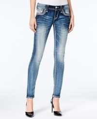 Rock Revival Ena Embellished Medium Blue Wash Skinny Jeans