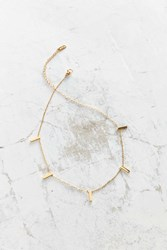 Seoul Little 18K Gold Plated Charm Choker Necklace