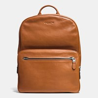 Coach Hudson Backpack In Sport Calf Leather Silver Saddle