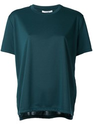 Clane Oversized Short Sleeve T Shirt Women Polyester Rayon 1 Green