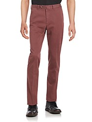 Loro Piana Solid Slim Fit Pants Red