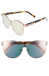 Karen Walker Women's 'Star Sailors Superstars' 60Mm Mirrored Lens Sunglasses Rose Gold With Crazy Tort