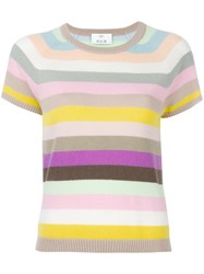 Allude Striped Shortsleeved Jumper