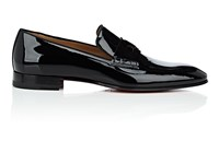 Christian Louboutin Magicien Patent Leather Venetian Loafers Black