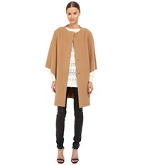 Alberta Ferretti Dolman Sleeve Open Front Jacket Camel Women's Coat Tan