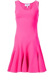 Derek Lam 10 Crosby Flared Mini Dress Pink And Purple