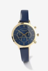 Topshop Multi Face Watch Gold