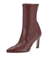 Stuart Weitzman Rapture 75Mm Lush Napa Sock Bootie Wine