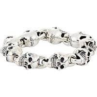 Good Art Hlywd Men's Oversized Skull Link Bracelet Silver