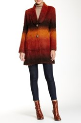 Desigual Ombre Overcoat Brown