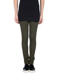 Liviana Conti Trousers Leggings Women Military Green