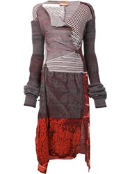 Andreas Kronthaler For Vivienne Westwood Patchwork Dress Orange