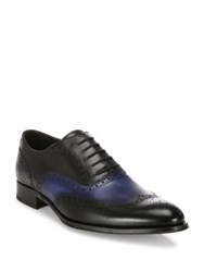 To Boot Buster Calfskin Leather Wingtip Oxfords Black Blue Brown