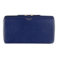 Radley Keats Grove Leather Clutch Navy