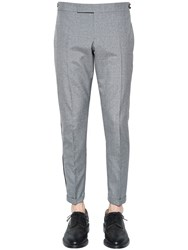 Thom Browne Wool Blend Crepe Pants W Selvedge Med Grey
