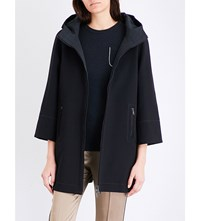 Brunello Cucinelli Reversible Embellished Woven Coat Anthrosite