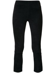 Vince Cropped Leggings Blue