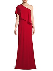 Rene Ruiz One Shoulder Column Gown Red