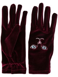Vivetta Cat Gloves Red