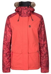 Rip Curl Sorcha Oxford Snowboard Jacket Cranberry Light Red