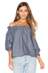 Eight Sixty Off Shoulder Top Blue