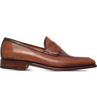 Sutor Mantellassi Olimpo Leather Penny Loafers Tan