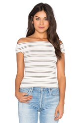 Free People Yacht Club Stripe Tee Ivory