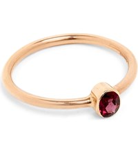 Annina Vogel 9Ct Rose Gold And Garnet Solitaire Ring