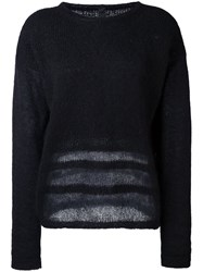 Ilaria Nistri Sheer Detailing Sweater Black