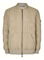 Topman Ltd Khaki Quilted Puffer Jacket Grey